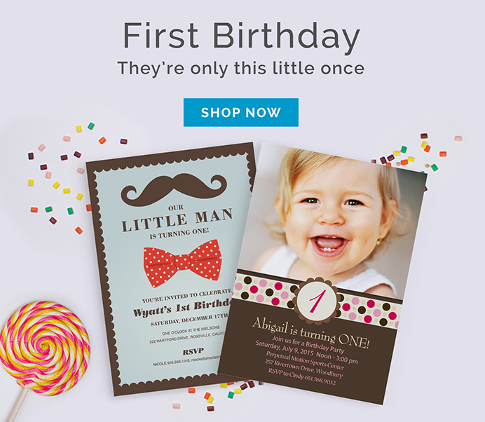 1st Birthday Announcements